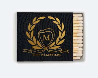 50 Custom Match Boxes - 30 Strikes - Wedding, Baby Shower, Birthday, Dinner Party or any Occasion! - Party Favors!