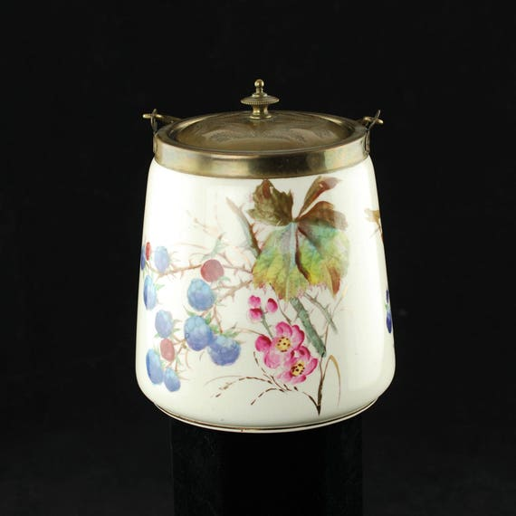 Schaukel Auf Englisch antike englische porzellan keks barrel mit schaukel griff und