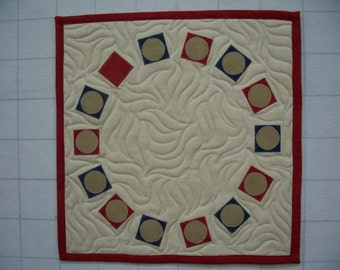 Circle of Friends quilted wall hanging