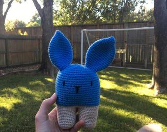 Hannahgurumi Blue Amigurumi Bunny- Pattern Design by Lanukas