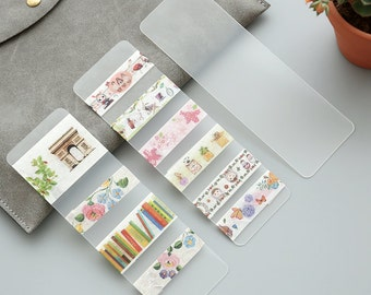 Frosted Finish PVC cards -Easy to carry Washi Tapes Wherever you Go/ 5cm x 15cm / Round Corners