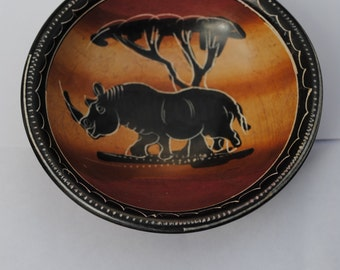 Rhino stone bowl from Africa
