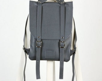 SALE! / Dark gray leather backpack rucksack / In stock / Small backpack / Leather backpack / Leather rucksack / Womens backpack / Gift