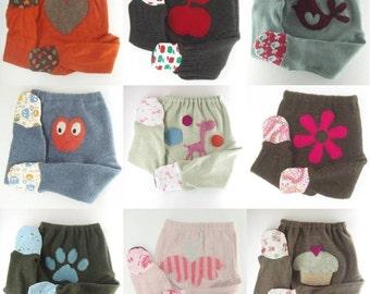 WOOL FOOTIES Custom Wool Diaper Cover