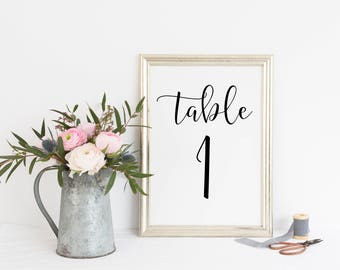 Printable. Table number sign, Reception table sign, Table numbers, wedding table numbers, wedding reception table sign, wedding sign. 00L1