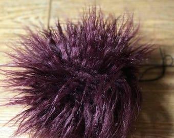 """6"""" faux fur pom pom in sea urchine"""