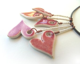 Red Hearts  Necklace - Necklace