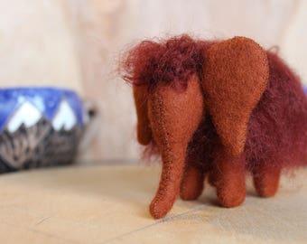 Waldorf Mammut //Little Mammut //Mammoth //Miniature //Stuffed Animal //Felted Animal