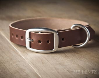 Leather Dog Collar, (dogs 10 to 55 lbs.) , Medium Dog Collar, Dog Collar, Leather Collar for Medium Dogs, Leather Collars 075-M