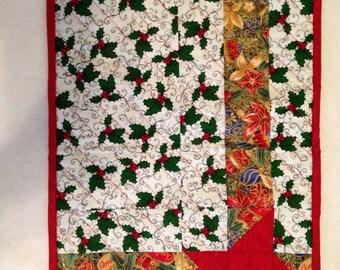 Four Handmade Christmas Placemats