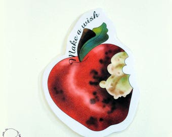 Plastified bookmark inspired by the disney universe bitten Apple