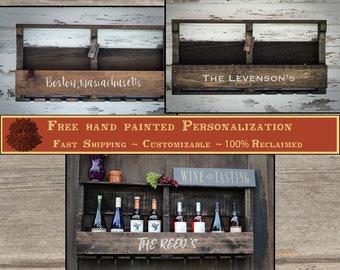 Wine Rack Wine Box Personalized Wine Glasses Pallet Wine Rack Wall Wine Rack Wall Mounted Wine Rack Wedding Gift Liquor Cabinet