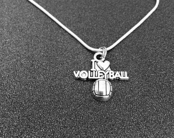 Hand Stamped Volleyball Jewelry, Volleyball Necklace, Girl Volleyball Necklace, Volleyball gifts, Volleyball Girl