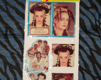 vintage Culture Club puffy stickers from the 1980s - new old stock