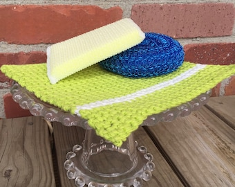 Crochet Dishcloth Pattern - Stripy
