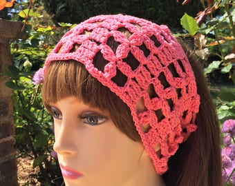 Headband or point openwork crochet headband