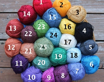 Cotton Yarn, Omega Sinfonia for Weaving, Knitting, Crochet, Any 4 Colors