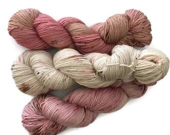 Hand dyed wool Fingering Merino Superwash cashmere Super fine Nylon trio