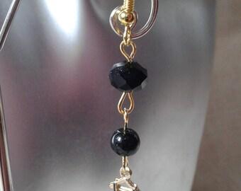 """Earrings """"little black dress"""""""