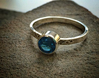 London Blue Topaz Stacking Ring, Size 8