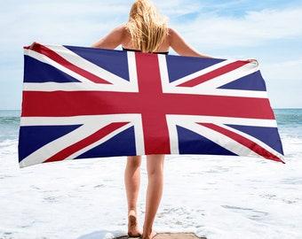 """United Kingdom Beach Towel - Union Jack Towel - United Kingdom Flag Towel - UK Flag - 30"""" x 60"""""""
