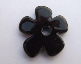 FLOWER CERAMIC BLACK 37MM
