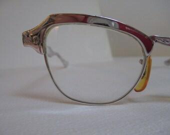Vintage Retro Frames Eyeglasses Frames Silver