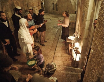 Hanukkah in Jewish Quarter - The Old City of Jerusalem - Color Photo Print - Fine Art Photography (IS36)