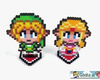 "Zelda and Link - Legend of Zelda Nintendo 4"" Wedding Cake Toppers Party Decorations"