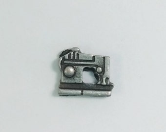 1 PC - Sewing Machine Silver Charm for Floating Locket Jewelry F0228
