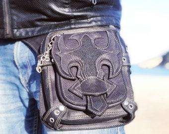 Holster bag/ Thigh Purse/ Steampunk/ Handmade Designer pocket Belt/ Festival