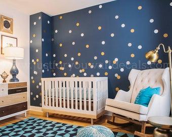 3 Inch, Polka Dot Wall Decals, Set of 42 - Polka Dot Wall Decals, Pattern Wall Decals, Playroom Wall Decal, Dot Wall Decals 11-0001