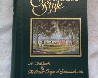 Savannah Style A Cookbook by The Junior League of Sanannah, Inc 1980