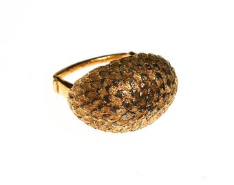 Vendome Gold Feather Dome Ring