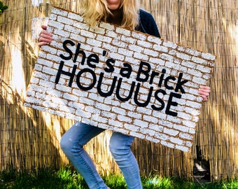 Brick House Doormat | Funny doormat | She's a Brick House | Door Mat | Welcome mat | The Commodores | Lionel Richie | Housewarming Gift