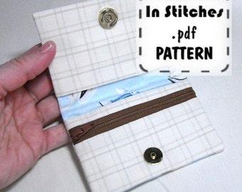 Pocket Wallet PDF Pattern Tutorial EASY Instructions DIY