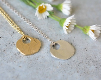 Thin gold necklace, 14k yellow gold Chain Necklace, 14k Solid Gold Pendant Chain, unique necklaces for women, minimalist necklace, netamit