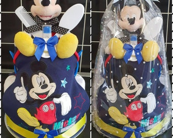 2 tier mickey mouse nappy cake