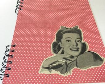 Vintage Image Upcycled Sketchbook - ON SALE!