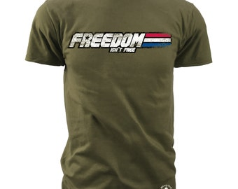 "Black Ink Men's Freedom Joe - ""Freedom Isn't Free"" American Pride T-Shirt (MT701)"