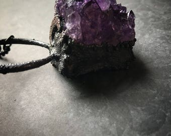 Amethyst Necklace   Moon Necklace   Wiccan Necklace   Witch   Pagan