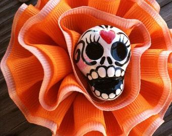 Sugar Skull Hair flower Clip