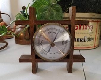 Western Germany Table Top Barometer in Wood Frame
