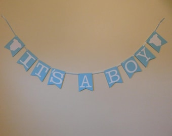 It's a Boy Banner - Blue and White