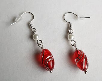 earrings - Red and Dainty