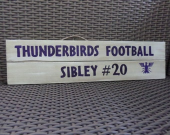 Sports Team & Players Name and Number Wooden Sign