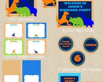 Dinosaurs Printable Party Package