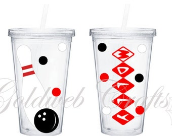 Bowling Personalized Double Wall Acrylic Tumbler 16oz