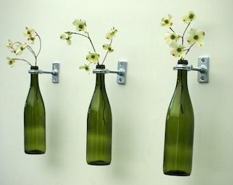 3 - Hardware Only - Wine Bottle Wall Flower Vases