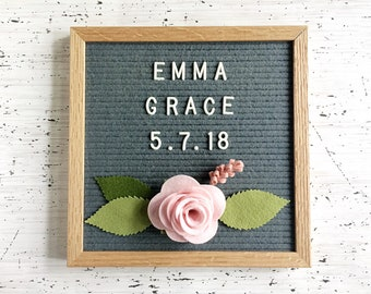 NEW Felt Rose for your Letter Board  - Add-ons for Felt Letter Boards - Decor for Photo Props, Parties, Showers, Weddings and Every Day